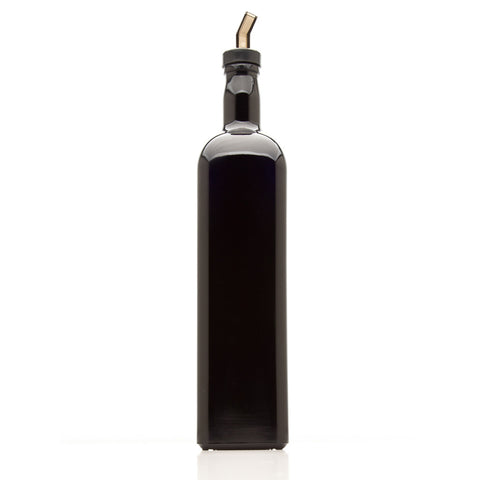 1 Liter Square Glass Bottle with Oil Spout - InfinityJars