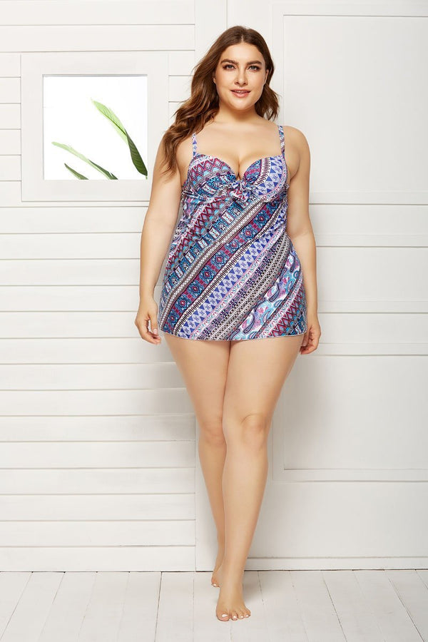 REVERIE CUP SIZED TIE FRONT UNDERWIRE SWIMDRESS and Shorts