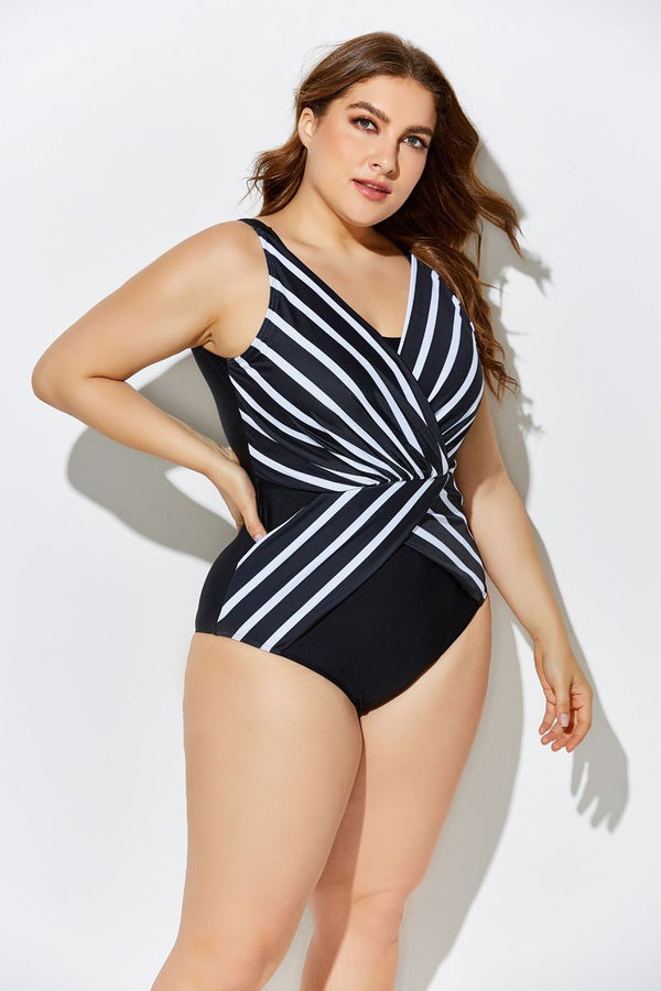 VERGE PLUNGE SURPLICE ONE PIECE SWIMSUIT