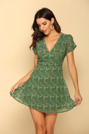 Olive New Meaning Floral Mini Dress