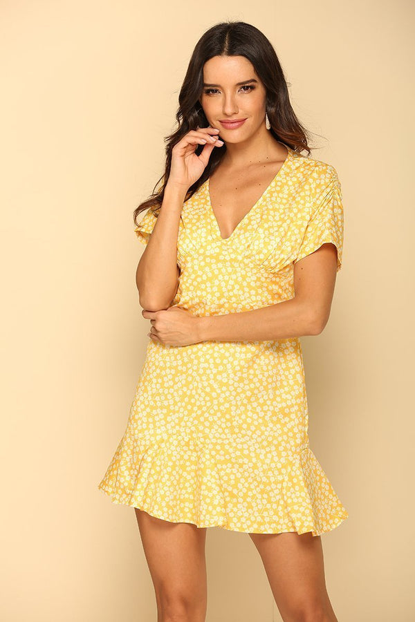 Yellow City To Country Mini Dress