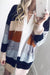 Block Patchwork Cardigan Sweaters
