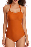 Halter Neck One Piece Swimsuit