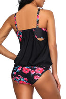Beachsissi Slim Flower Print Tankini Set