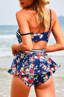 Beachsissi Floral Printing Two-piece Swimsuit