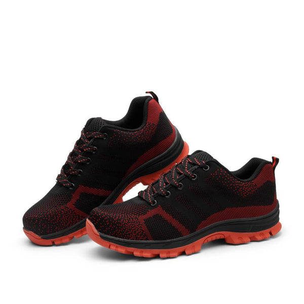 Modern Anti-Puncture Red Black Shoes