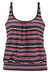 STRIPED BLACKTANKINI SET