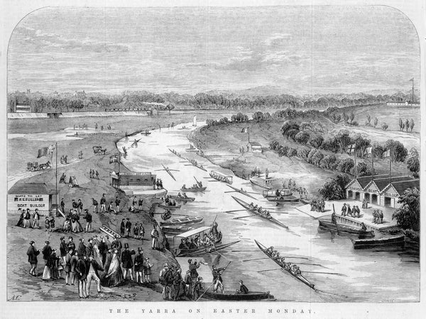 The Yarra on Easter Monday | Frederick Grosse 1828-1894, engraver. Melbourne : Ebenezer and David Syme 1867