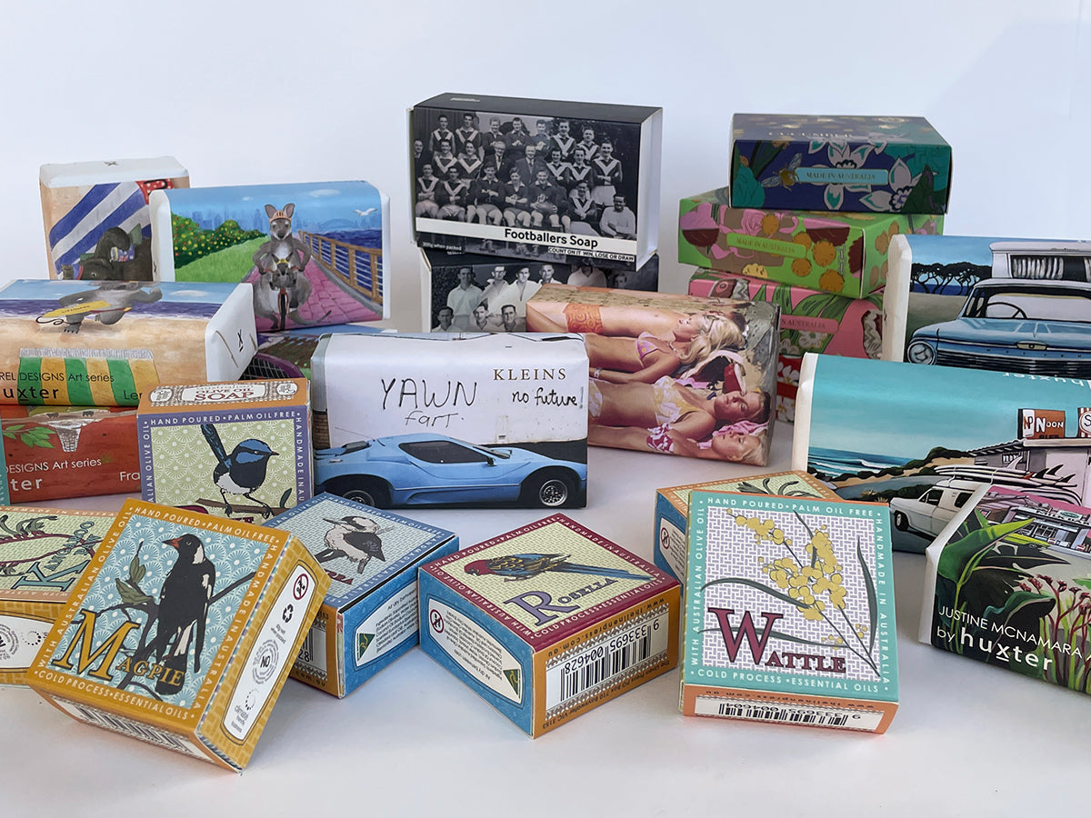 A selection of Melbournalia's bar soap