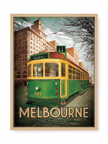 W Class Tram on Collins St Print