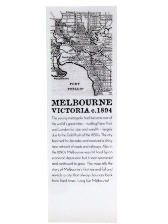 Melbourne Map Bookmark