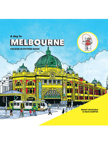 A Day in Melbourne Colour-In Picture Book