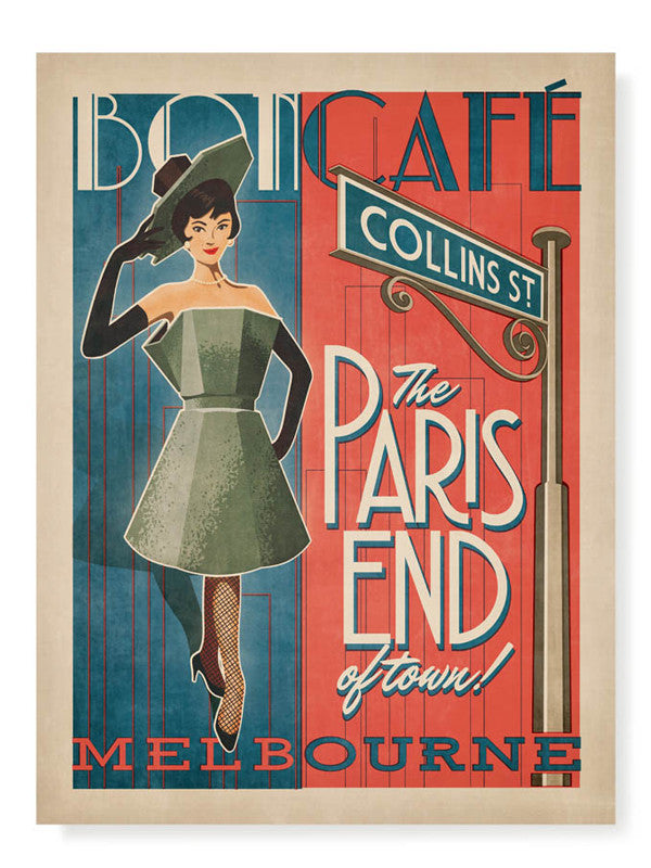 Collins Street (The Paris End of Town) Print