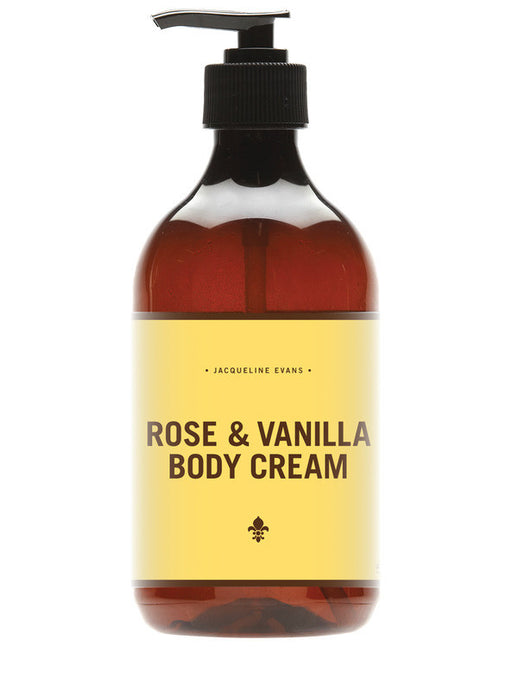 Jacqueline Evans vegan rose and vanilla body cream made in Melbourne for sale at Melbournalia