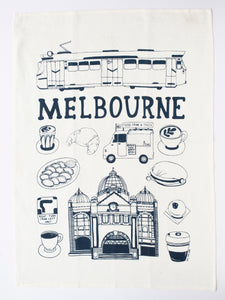 Melbourne Things Tea Towel