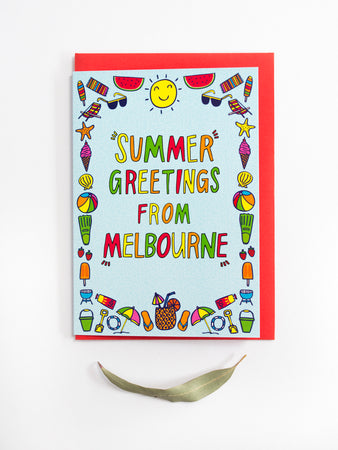 Melbourne Holiday Greetings Card