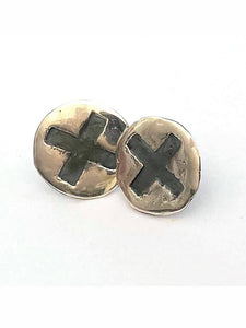 Covid Cross Earrings