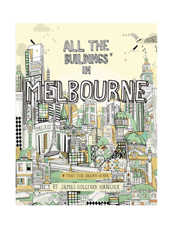 Book of quirky illustrations of Melbourne buildings