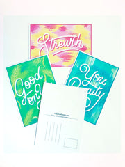 Colourful Language Postcard Pack