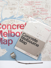 Load image into Gallery viewer, Concrete Melbourne Map by Blue Crow