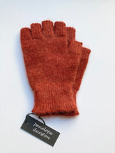 Load image into Gallery viewer, Penelope Durston  Angora and Lambswool Fingerless Gloves