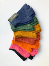 Load image into Gallery viewer, Penelope Durston  Angora and Lambswool Fingerless Spring Gloves
