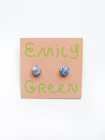 Emily Green Marble Studs