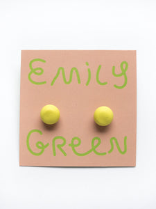 Emily Green Block Colour Studs