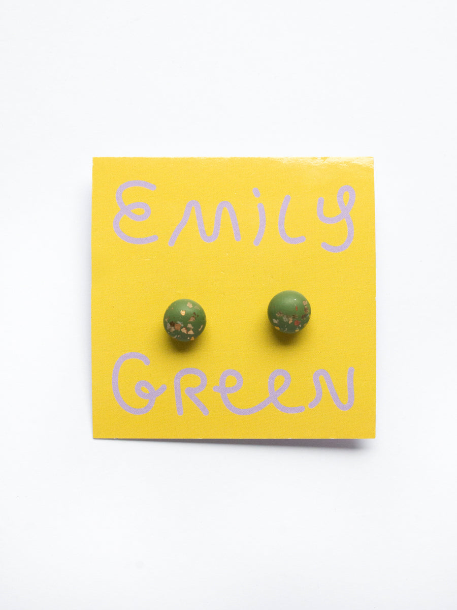 Emily Green Sparkle Studs
