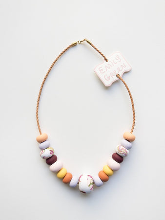 Sea Smoke Big Bead Necklace