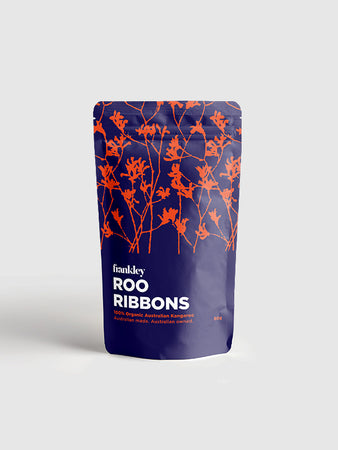 Roo Ribbons: Organic Kangaroo Jerky for Dogs 80g