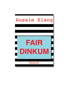 Fair Dinkum red and blue magnet
