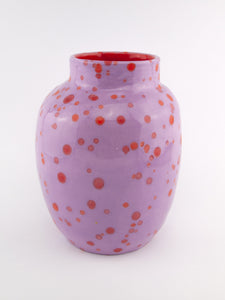 Vase Lilac Red Spots