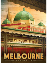 Load image into Gallery viewer, Flinders Street Station Postcard