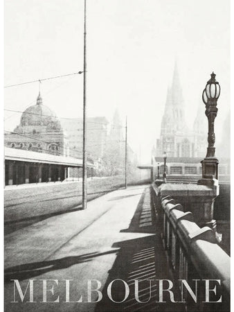 Princes Bridge, Melbourne Postcard
