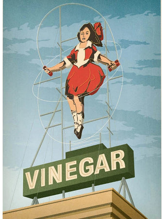 Skipping Girl Vinegar Postcard