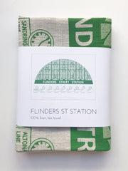 Flinders Street  Station Tea Towel