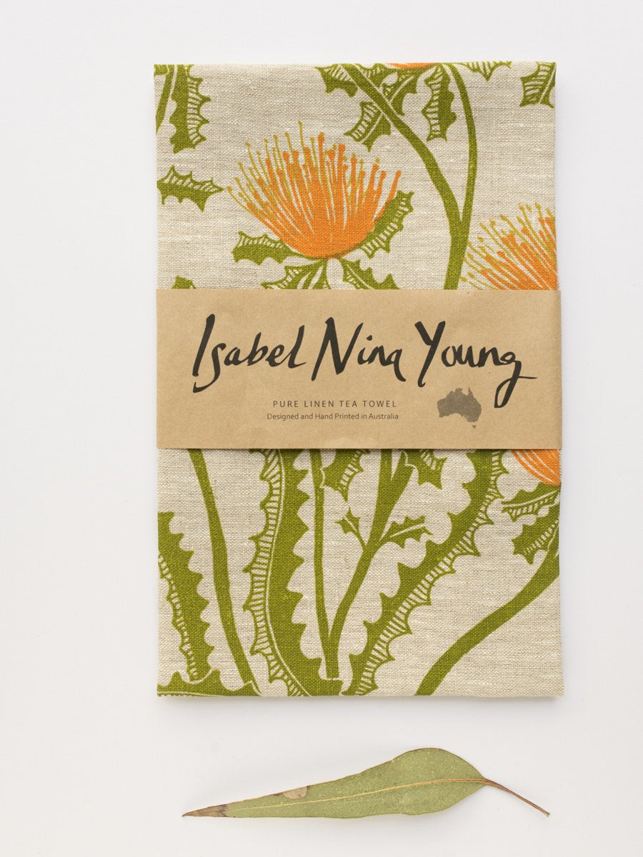 Native Botanicals Tea Towel Banksia