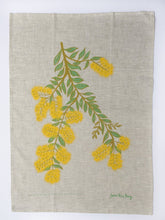 Load image into Gallery viewer, Native Botanical Tea Towel Yellow Wattle