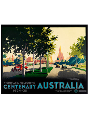 James Northfield Vintage St. Kilda Rd Poster