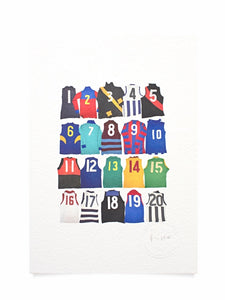 Fabric of Football A5 Monogrammed Print