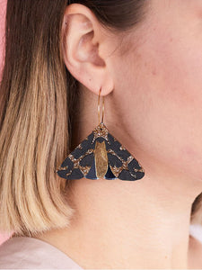 Moth Earrings Copper