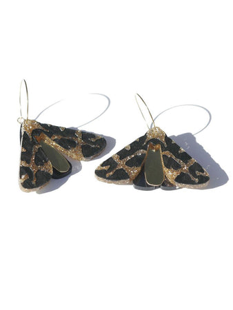 Moth Earrings Gold