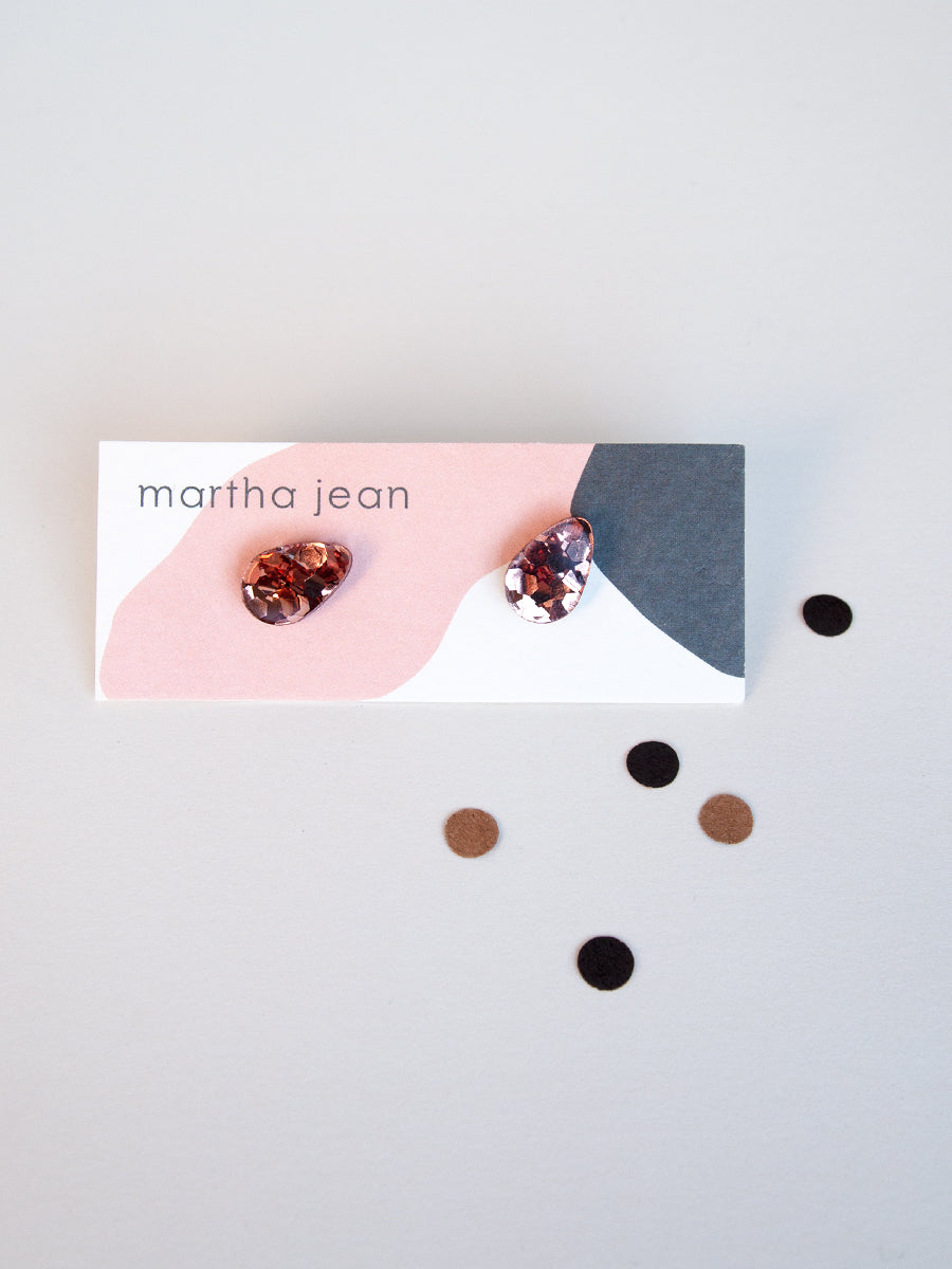 Raindrop Studs Rose Gold