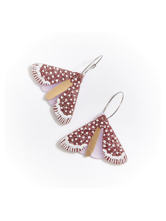 Moth Earrings Rose
