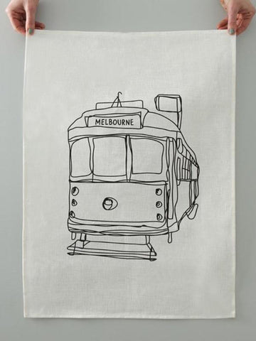 Melbourne Tram Tea Towel