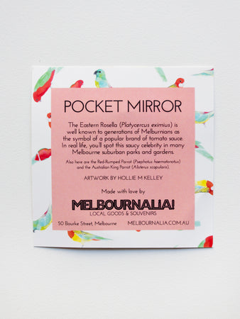 Australian Birds Pocket Mirror