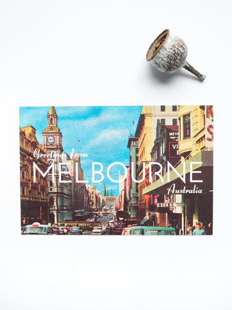 Greetings from Melbourne Australia: Bourke Street Postcard