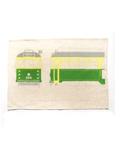 Load image into Gallery viewer, Old Green Rattler Tram Tea Towel
