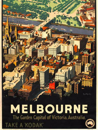 James Northfield Melbourne CBD Print, Iconically Australian